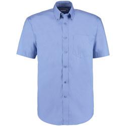 textil Herre Skjorter m. korte ærmer Kustom Kit KK109 Mid Blue