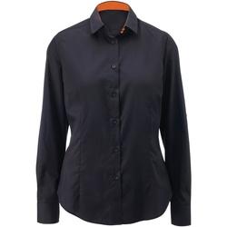 textil Dame Skjorter / Skjortebluser Alexandra AX060 Black/ Orange