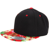 Accessories Kasketter Yupoong  Black/ Floral Red