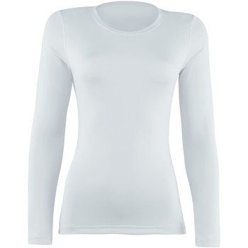 textil Dame Langærmede T-shirts Rhino  White