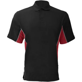 textil Herre Polo-t-shirts m. korte ærmer Gamegear KK475 Black/Red/White