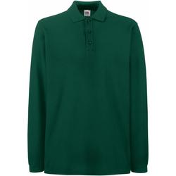 textil Herre Polo-t-shirts m. lange ærmer Fruit Of The Loom 63310 Forest Green