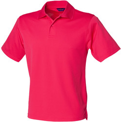 textil Herre Polo-t-shirts m. korte ærmer Henbury HB475 Bright Pink