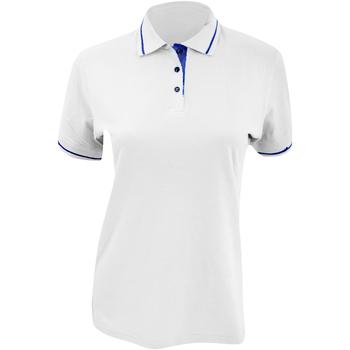 textil Dame Polo-t-shirts m. korte ærmer Kustom Kit Mellion White/Navy