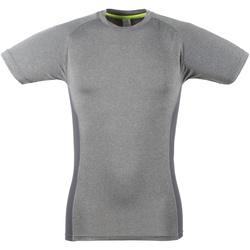 textil Herre T-shirts m. korte ærmer Tombo Teamsport TL515 Grey Marl / Grey