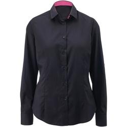 textil Dame Skjorter / Skjortebluser Alexandra AX060 Black/ Pink