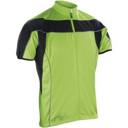 textil Herre Fleecetrøjer Spiro S188M Black/Fluorescent Lime