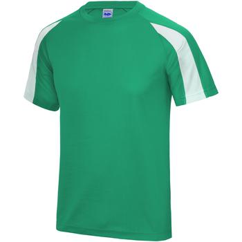 textil Herre T-shirts m. korte ærmer Just Cool JC003 Kelly Green/Arctic White