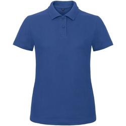 textil Dame Polo-t-shirts m. korte ærmer B And C ID.001 Royal Blue