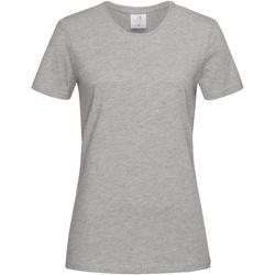 textil Dame T-shirts m. korte ærmer Stedman  Heather Grey