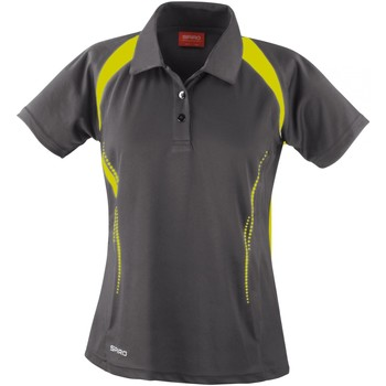 textil Dame Polo-t-shirts m. korte ærmer Spiro S177F Grey/Lime