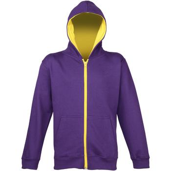 textil Børn Sweatshirts Awdis JH53J Purple/Sun Yellow
