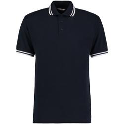 textil Herre Polo-t-shirts m. korte ærmer Kustom Kit KK409 Navy/White