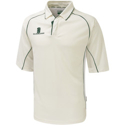 textil Herre Polo-t-shirts m. korte ærmer Surridge SU001 White/Green trim