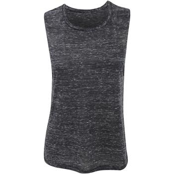 textil Dame Toppe / T-shirts uden ærmer Bella + Canvas BE8803 Black Marble