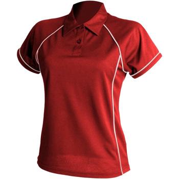 textil Dame Polo-t-shirts m. korte ærmer Finden & Hales LV371 Red/White