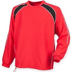 textil Herre Sportsjakker Finden & Hales LV845 Red/ Black/ White