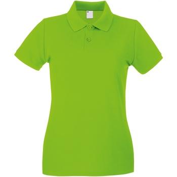 textil Dame Polo-t-shirts m. korte ærmer Universal Textiles 63030 Lime Green