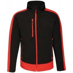textil Herre Fleecetrøjer Regatta RG423 Black/Classic Red
