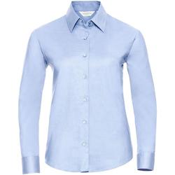 textil Dame Skjorter / Skjortebluser Russell 932F Oxford Blue