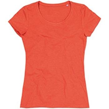 textil Dame T-shirts m. korte ærmer Stedman Stars Lisa Pumpkin Heather