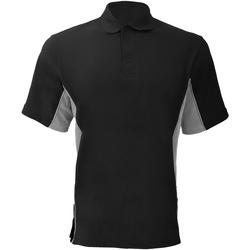 textil Herre Polo-t-shirts m. korte ærmer Gamegear KK475 Black/Grey/White