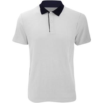textil Herre Polo-t-shirts m. korte ærmer Anvil 6280 White/ Navy