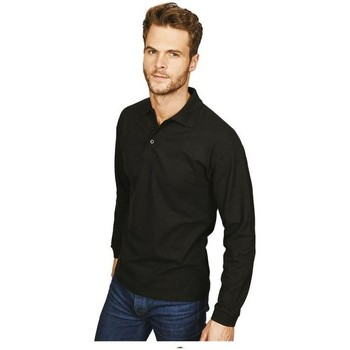 textil Herre Polo-t-shirts m. lange ærmer Casual Classics  Black