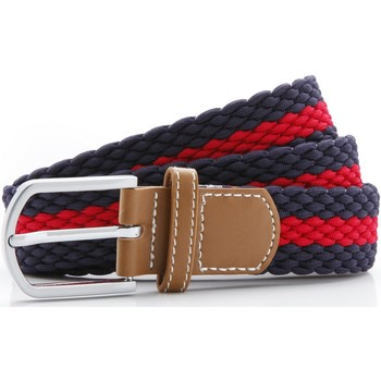 Accessories Herre Bælter Asquith & Fox Two Colour Stripe Navy/Red