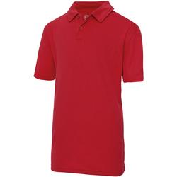textil Børn Polo-t-shirts m. korte ærmer Just Cool  Fire Red