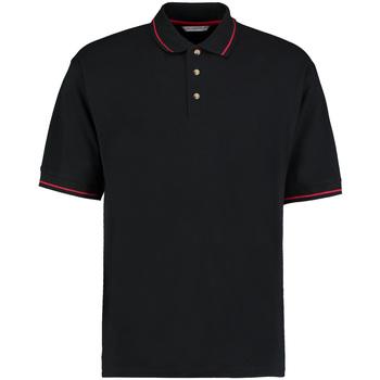 textil Herre Polo-t-shirts m. korte ærmer Kustom Kit KK606 Black/Bright Red
