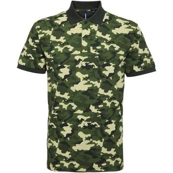 textil Herre Polo-t-shirts m. korte ærmer Asquith & Fox AQ018 Camo Green