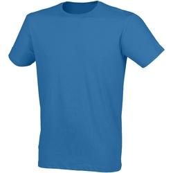 textil Herre T-shirts m. korte ærmer Skinni Fit SF121 Surf Blue