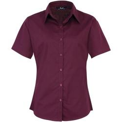 textil Dame Skjorter / Skjortebluser Premier PR302 Aubergine
