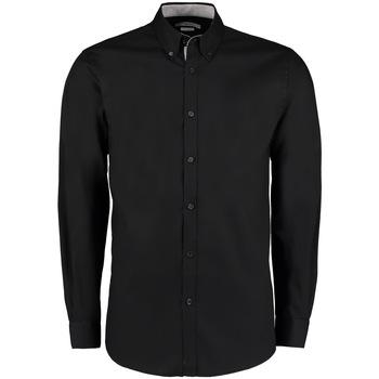 textil Herre Skjorter m. lange ærmer Kustom Kit KK190 Black/Silver
