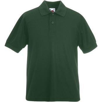 textil Dreng Polo-t-shirts m. korte ærmer Fruit Of The Loom 63417 Bottle Green