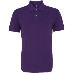 textil Herre Polo-t-shirts m. korte ærmer Asquith & Fox AQ010 Purple Heather