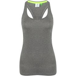 textil Dame Toppe / T-shirts uden ærmer Tombo TL506 Grey Marl