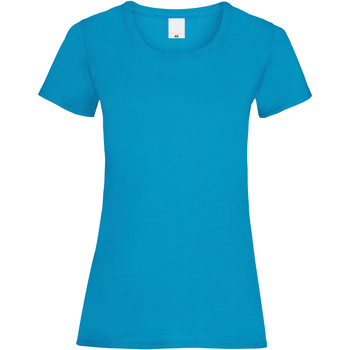 textil Dame T-shirts m. korte ærmer Universal Textiles 61372 Cyan