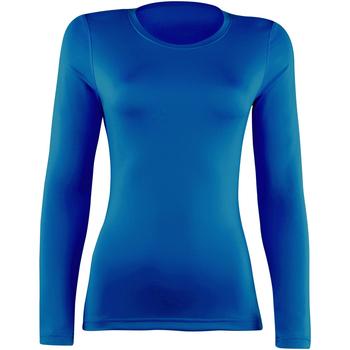 textil Dame Langærmede T-shirts Rhino RH003 Royal