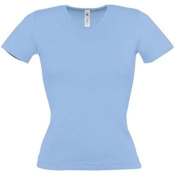 textil Dame T-shirts m. korte ærmer B And C BA116 Sky Blue