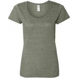 textil Dame T-shirts m. korte ærmer Gildan 64550L Graphite Heather