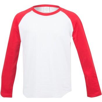 textil Børn Langærmede T-shirts Skinni Fit SM271 White / Red