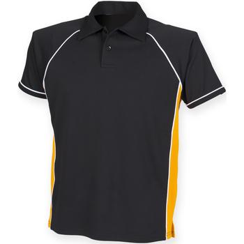 textil Herre Polo-t-shirts m. korte ærmer Finden & Hales Piped Black/Amber/White