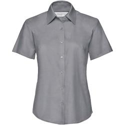 textil Dame Skjorter / Skjortebluser Russell 933F Silver Grey