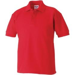 textil Dreng Polo-t-shirts m. korte ærmer Jerzees Schoolgear 539B Bright Red