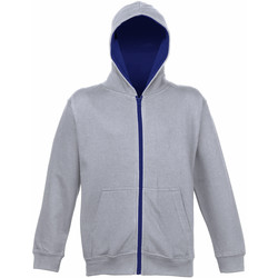 textil Børn Sweatshirts Awdis JH53J Heather Grey/French Navy