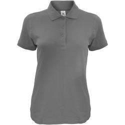 textil Dame Polo-t-shirts m. korte ærmer B And C Safran Dark Grey