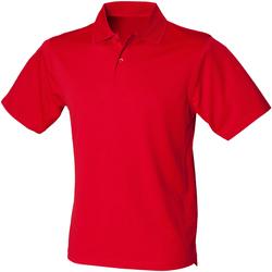 textil Herre Polo-t-shirts m. korte ærmer Henbury HB475 Classic Red