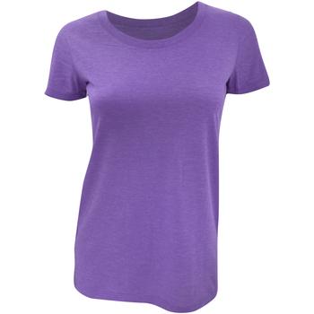 textil Dame T-shirts m. korte ærmer Bella + Canvas BE8413 Purple Triblend